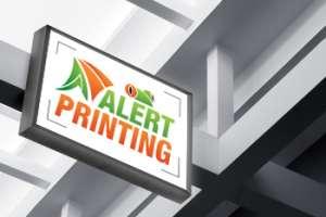 alert printing sign board