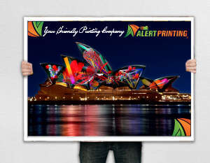 alert printing poster