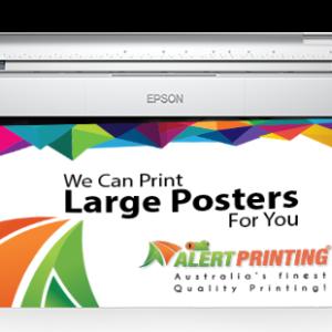 alert printing poster printing