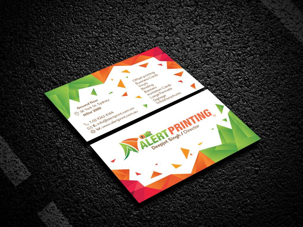 Business cards get best quality for your business in york street standard business card alert printing business cards reheart Gallery