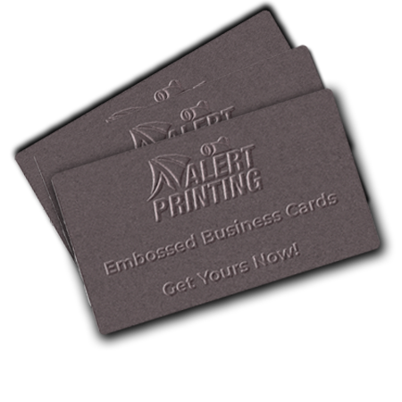 alert printing business cards