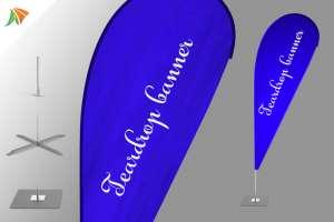 teardrop banner flag