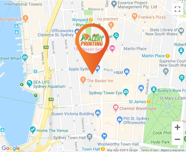 alert printing location